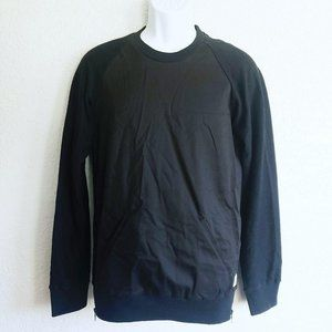 Kith Black Zip Sides Knit Pullover XS Pockets